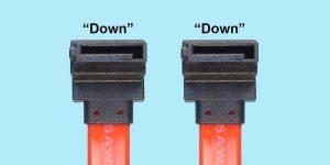 Serial ATA Signal Cable - R/A 7-pin 'Down' to R/A 7-pin 'Down'