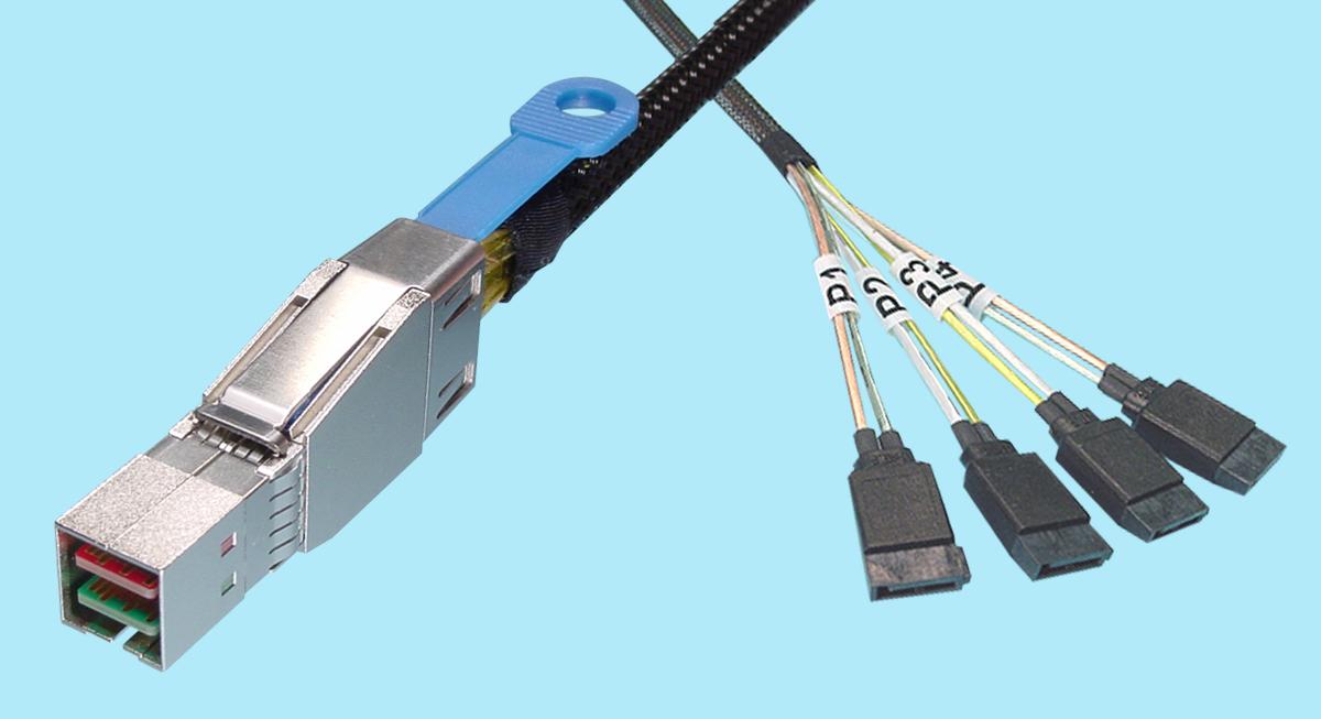 external hd mini sas sff 8644 to sata 7 pin x4 fanout cs