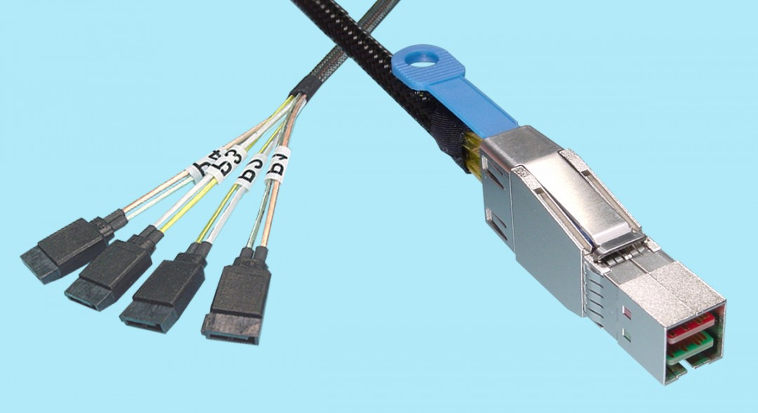 SATA 7-pin (X4) to SFF-8644