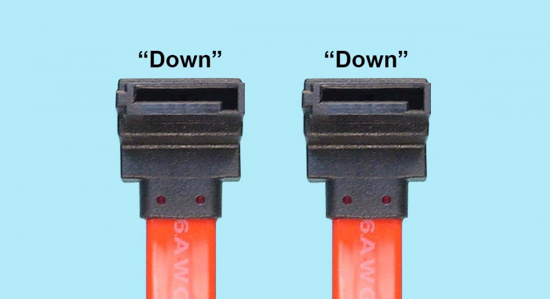 Serial ATA Signal Cable - R/A 7-pin 'Down' to R/A 7-pin 'Down'
