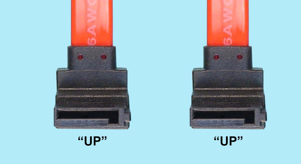 Serial ATA Signal Cable - R/A 7-pin 'Up' to R/A 7-pin 'Up'