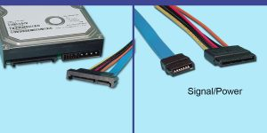 SATA Backplane 'Test' Cable - Male 22-pin -to- 7-pin SATA & Power