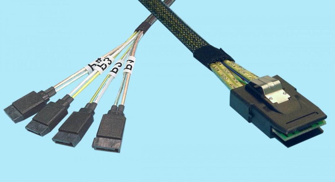 (4) 7-PIN SATA (Host) to SFF-8087