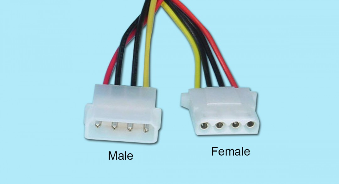 Standard 4-pin Power Cable - Female to Female