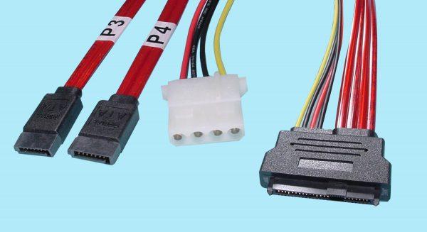 (2) SATA 7-Pin to SFF-8482
