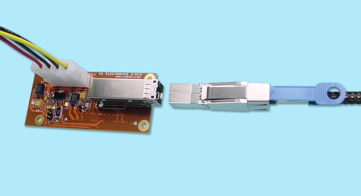 12Gb/s 4-Port SAS Drive T-Card Adapter SFF-8644, SFF-8639 ...